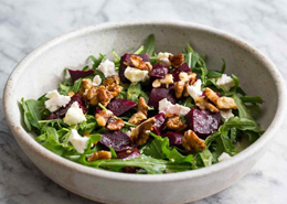 Salad with Beets and Feta Cheese